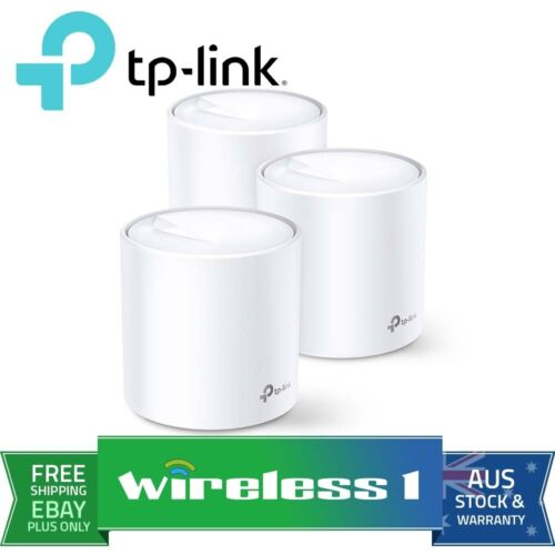 TP-Link Deco X20 3-pack AX1800 Whole Home Mesh Wi-Fi System Dual Band MU-MIMO