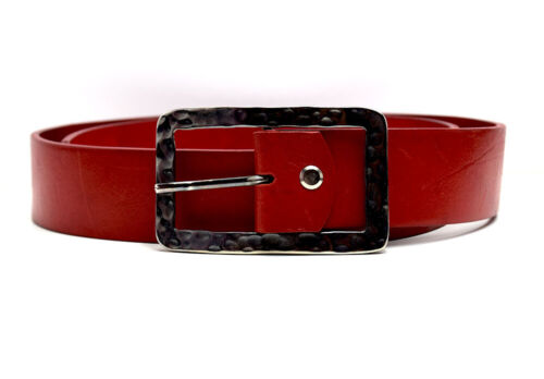 Penny Belts Womens Real Leather Belt Red Size 32