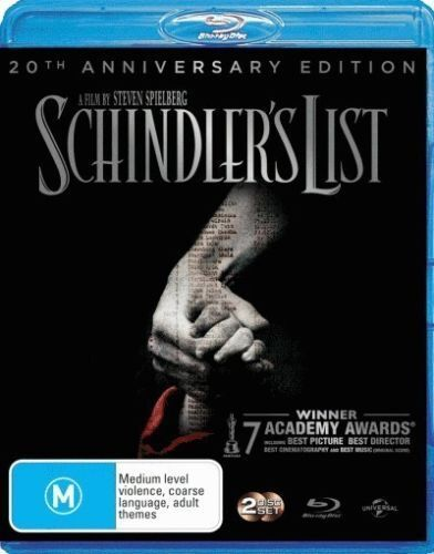 BLU RAY 2 DISC SET SCHINDLER'S LIST 20TH ANNIVERSARY EDITION NEW PLASTIC SEALED