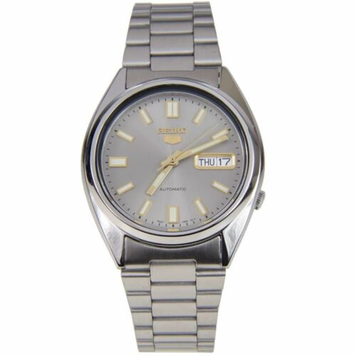 Seiko 5 Automatic Grey Dial Silver Steel 37mm SNXS75K1 Men's Watch RRP £169 <br/> ✔ FREE DELIVERY ✔ FAST SHIPPING ✔AUTHORISED UK SELLER ✰