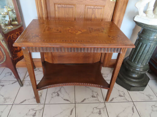 ANTIQUE. UNSUSUAL INLAID TABLE ca.1910s