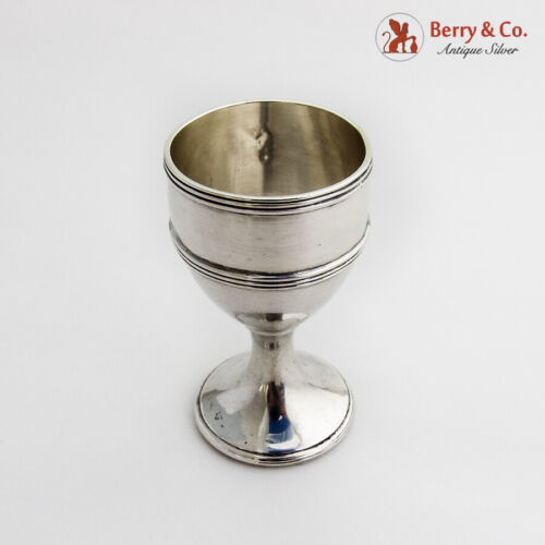 Banded Rim Cordial Cup Sterling Silver