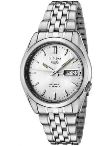 Seiko 5 Automatic Silver Dial Steel 37mm Case Size Mens Watch SNK355K1 RRP £169 <br/> ✔ FREE DELIVERY ✔ FREE RETURNS ✔AUTHORISED UK SELLER ✰