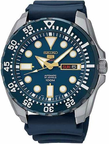 Seiko 5 Sports Automatic Blue Dial Blue Monster Mens Watch SRP605K2 RRP £279 <br/> ✔ FREE DELIVERY ✔ FREE RETURNS ✔AUTHORISED UK SELLER ✰