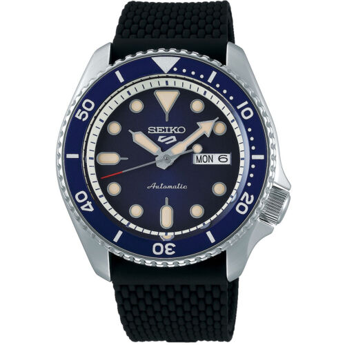 Seiko 5 Sports Blue Dial Silicone Strap Automatic Men's Watch SRPD71K2 RRP £250  <br/> ✔ FREE DELIVERY ✔ FREE RETURNS ✔AUTHORISED UK SELLER ✰