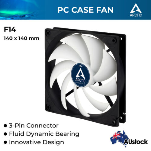 140mm PC Case Cooling Fan Silent Cooler Fluid Bearing Arctic Cooling F14 3-pin