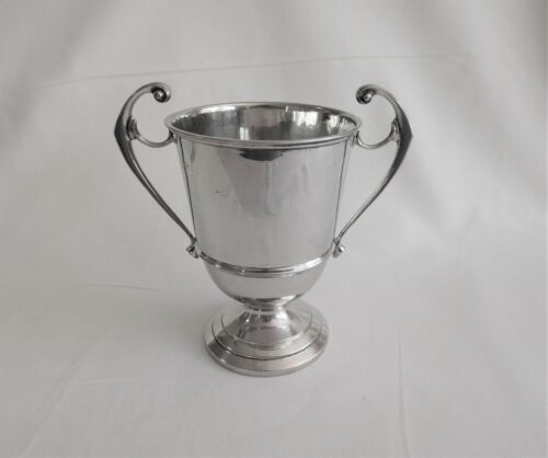 Antique sterling silver large trophy cup c 1930 London United Kingdom.