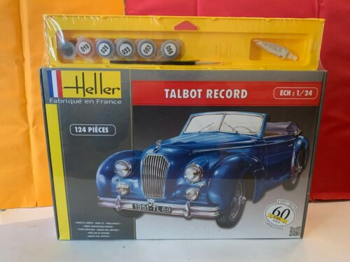 HELLER MAQUETTE VOITURE TALBOT RECORD 1/24 NEUF SOUS BLISTER