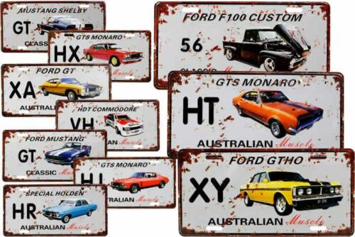 AU STOCK FREE DELIVERY!! RUSTIC LOOK FORD XY GTHO TIN WALL SIGN