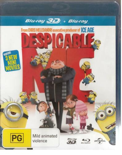 DESPICABLE ME - 3D BLU-RAY + BLU-RAY -  FREE LOCAL POST