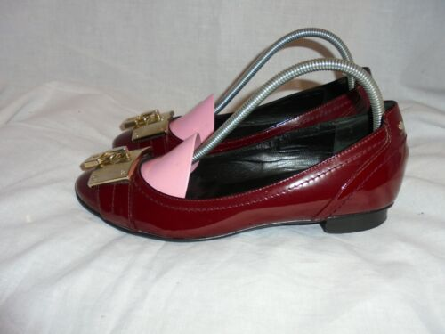 RUSSELL & BROMLEY WOMEN RED LEATHER LACE UP SHOE SIZE UK 3 EU 35.5 VGC