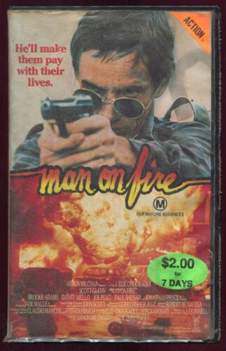 Man On Fire VHS 1980s Action Vestron Home Video PAL