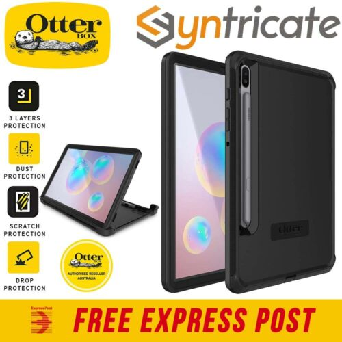 Samsung Tab S6 OTTERBOX Defender Rugged Outdoor Drop Proof Slim Case - Black