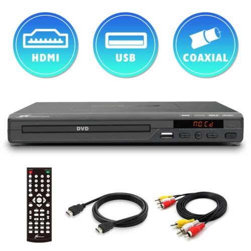 Mediasonic DVD Player - 1080P Upscaling, All region DVD Player w/ HDMI AV output <br/> 6 ft HDMI 2.0 Cable Included. CD / DivX Play Back