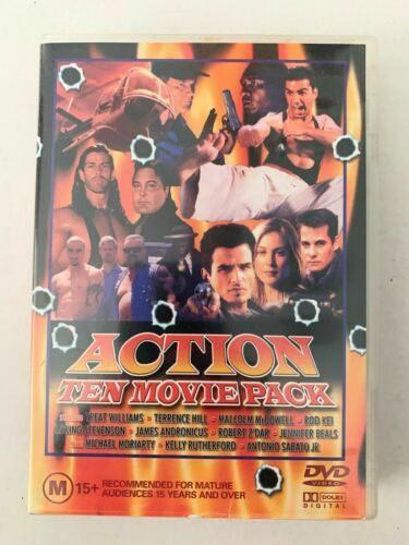 Action Ten Movie Pack DVD Set - 36 Hours to Die, In the eye of the Snake, Blind
