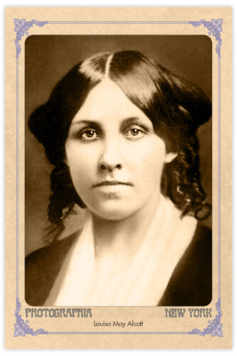 "LOUISA MAY ALCOTT Celebrated Writer ""Little Women"" Vintage 4x6 Photo Card RP"
