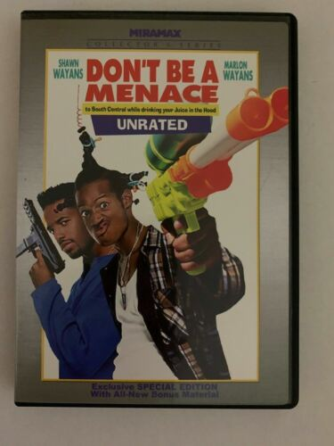 Don't Be A Menace - Unrated Special Edition (DVD, 1996) Region 1. Wayans Bros