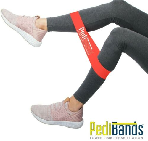Resistance Bands, Therabands, Therapy Bands Limb Rehabilitation & Home Exercise <br/> NEW: PEDIBANDS Available as box set (5) or individually