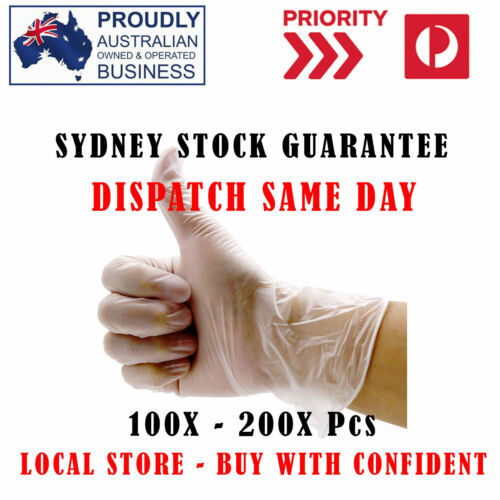 PREMIUM Clear Vinyl Gloves Disposable Medical Food Safe Powder Free NO-LATEX  <br/> SYD Stock ❤ Same Day Dispatch ❤ Limited ❤ Premium Grade