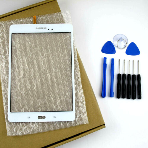 """White Touch Screen Glass Digitizer and Tools For Samsung Galaxy Tab 8.0"""" SM-T350"""