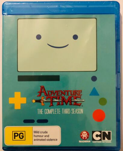 Adventure Time: The Complete Third Season (Blu-Ray) New & Sealed Multi Region
