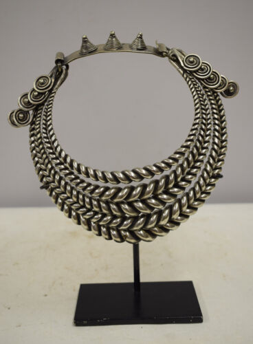 Necklace Chinese Silver 4 Band Twisted Silver Collar