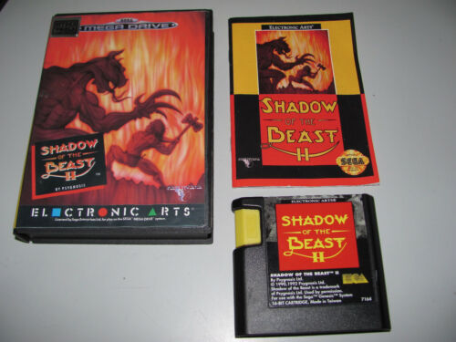 Shadow Of The Beast ll 2 Great Game For Sega Mega Drive Fully Tested & Working