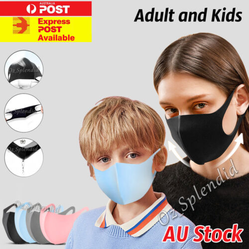 Washable Unisex Face Mask Mouth Masks Protective Reusable 24Hr Dispatch SYD <br/> 🔥70000+ SOLD🔥2x 3x 6x Pack🔥Sydney Stock 🔥AU Seller