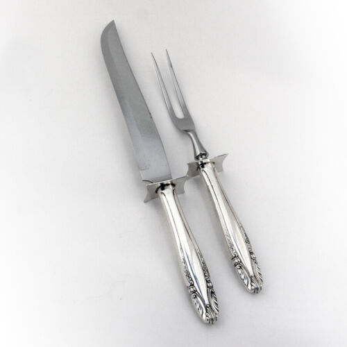 Stradivari Large 2 Piece Carving Set Wallace Sterling Silver 1937