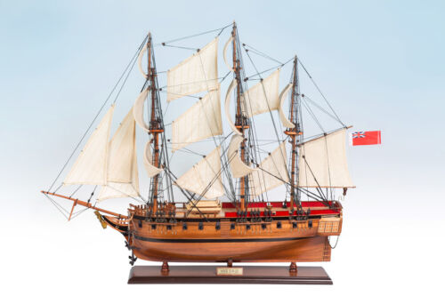 SEACRAFT GALLERY HANDCRAFTED WOODEN MODEL SHIP BOAT HMS SIRIUS 75CM