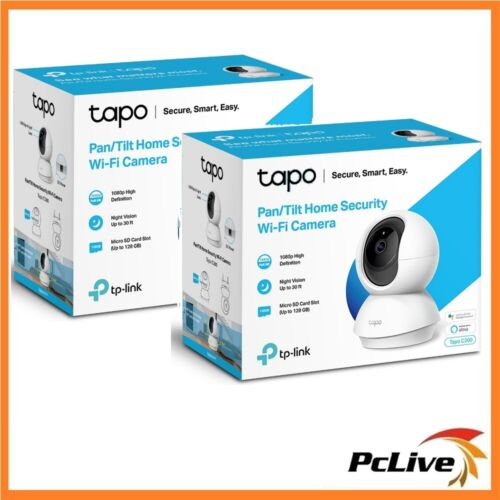 2x TP-Link Tapo C200 Full HD Camera Night Vision Audio Pan Tilt Motion Baby Pet
