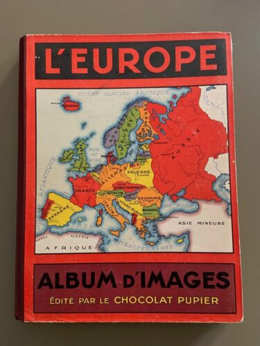 """L'Europe, album d'images"" édité par le chocolat Pupier"