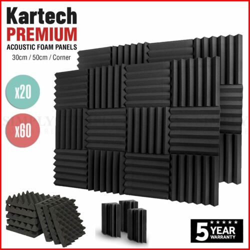Sound Proofing Acoustic Panels Tiles Foam Studio Egg Shell Insulation Bass Traps <br/> -  Extra 15% off! Use code PLUSXMS (T&Cs apply)