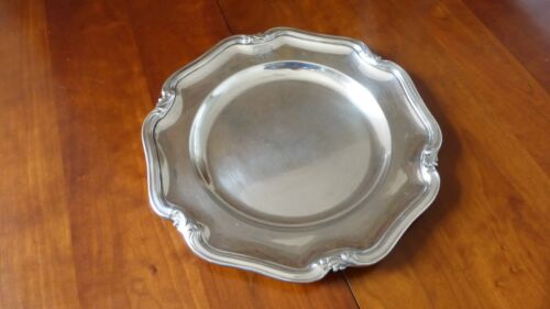 Christofle France.Antique Silverplate round dish tray.Chinon Louis XV style 11.8