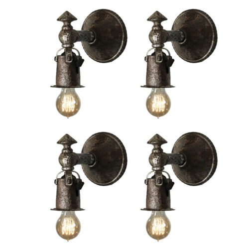 Matching Antique Cast Iron Tudor Sconce Pairs, 1 Pair Available, NSP1518