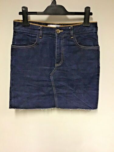 VICTORIA BECKHAM DARK BLUE DENIM MINI SKIRT SIZE 8