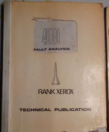 Antique Manual Service Xerox 4000