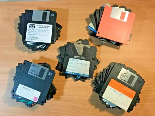 """Mixed 3.5"""" HD Floppy Disk, MFD-2HD Floppy Disk, 120MB Super Disk Imation Maxell"""