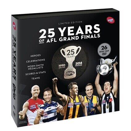 AFL -25 Years Of AFL :Collection (Limited Edition 26 Disc Set ) GRAND FINAL SALE