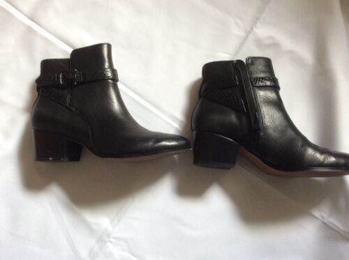 Coach  Black leather Ankle boot