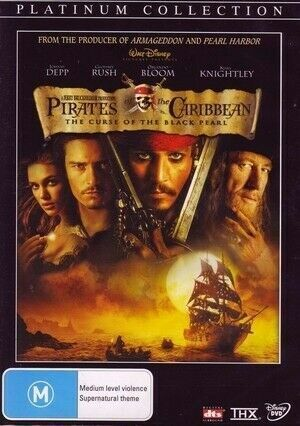Pirates Of The Caribbean : The Curse Of The Black Pearl  : NEW DVD