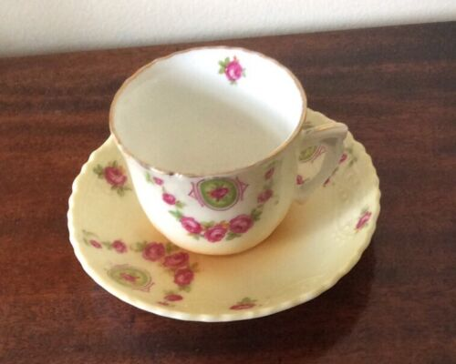 Antique China Cup/ Saucer - Unmarked - Pretty - Small