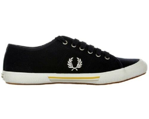 FRED PERRY VINTAGE TENNIS CANVAS MEN'S TRAINERS SIZE.UK 6