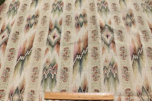 """Antique c1920 French Ethnic Cotton Jacquard Tapestry Fabric~L-40"""" X W-44"""""""