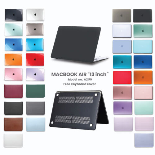 """2020 Apple Macbook Air 13"""" A2179 Protective Hard Case + Keyboard Cover Latest"""