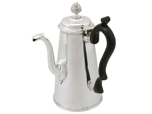 Victorian Sterling Silver Coffee Pot 1891