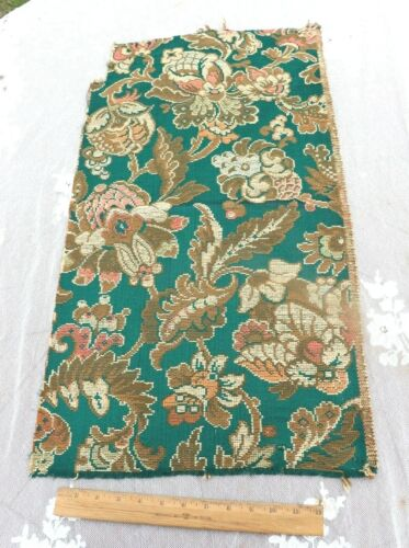 """Antique c1920-30 French Jacquard Cotton Tapestry Fabric~Jacobean~L-28""""X W-16"""""""