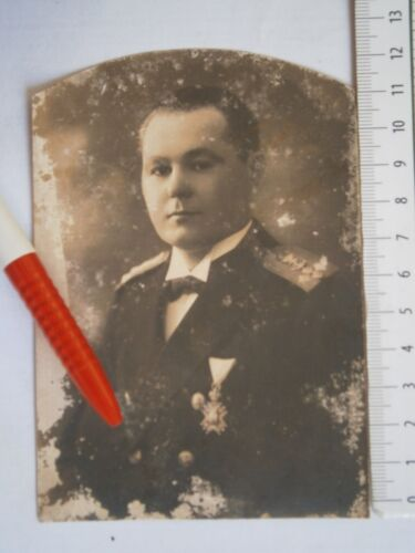 KINGDOM YUGOSLAVIA ARMY NAVY OFFICER PHOTO MILITARY PICTURE ST SAVA ORDER MEDALOther Militaria - 135