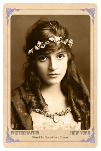 MIRIAM COOPER Acclaimed Actress Vintage Photograph Reproduction Cabinet Card