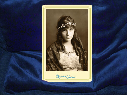 MIRIAM COOPER Early Film Actress Cabinet Card Photograph Vintage RP Autograph